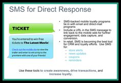 How to use SMS for direct response from your prospects.