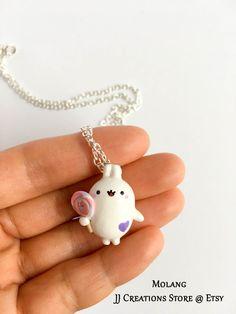 Kawaii Molang collier collier kawaii molang le par JJcreationsStore