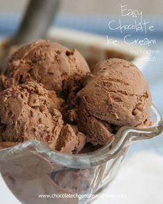 Easy Chocolate Ice Cream-no machine needed! Wondering if I can modify it and make strawberry ice cream.