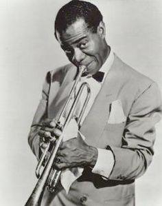 Louis Armstrong, Nueva Orleans, 1900 - Nueva York, 1971) Trompetista, cantante y director de grupo de jazz estadounidense. Para definir a este artista son especialmente adecuadas las palabras de Duke Ellington, quien dijo que si había un auténtico Mr. Jazz, éste era sin duda Louis Armstrong.