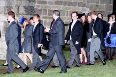 William and Kate attend wedding of Harry Aubrey-Fletcher & Louise Stourton - January 7, 2011.  The guests filed out of the church following the ceremony, with Prince Harry accompanying Kate Middleton and her female personal protection officers.