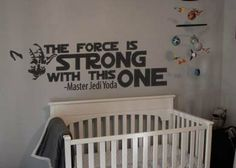 Star Wars Inspired The Force is Strong With This One Yoda Vinyl Wall Decal Sticker