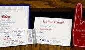 Sporty bar mitzvah invite  At small fry press