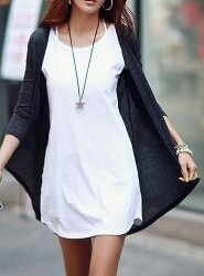 Cute outfit and long cardigan