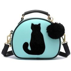 Cat & Fur Ball  These cute, cat & fur ball crossbody handbag are fun to carry and comes in 4 different colors!  This bag has multiple pockets where you can store items such as your cell phones, keys, etc so it can be used to just carry items in or even used as a purse!   You can grab one or grab them all because they're also the perfect gift for your girlfriends who also love cats! Handbag – Just Love Cats