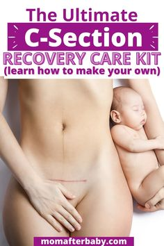 Have a planned c-section coming up? Make sure you have a cesarean recovery kit packed and ready to go at home! C Section Recovery, After Birth, Postpartum Recovery, Kit, How To Plan, Learning, Studying, Teaching, Onderwijs