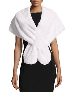 Gorski Mink Fur Pull-Through Stole, White