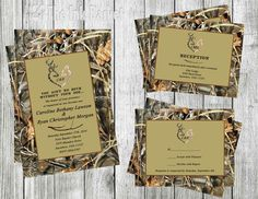 Printable Wedding Invitations,Birthday, Deer, Hunter, Camo, Camoflauge, Doe,Buck and Doe Wedding Invitation Set and Separates