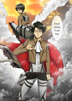 Rivaille Heicho - Keep away from Eren! by Hikari-15-L on deviantART