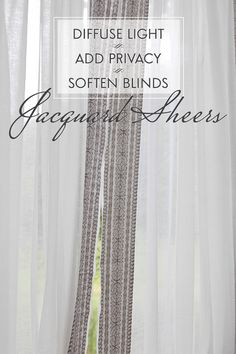 Jacquard Sheer Curtain in Ivory+Pewter