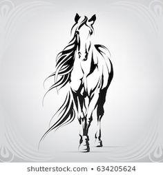 Horse Stencil, Animal Stencil, Stencil Art, Horse Drawings, Art Drawings Sketches, Horse Head, Horse Art, Horse Horse, Horse Silhouette
