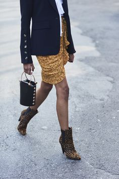 Cheetah Boots - 60 Creative Outfit Ideas From New York Fashion Week - Photos