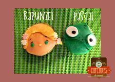 Rapunzel & Pascal fondant Cupcake