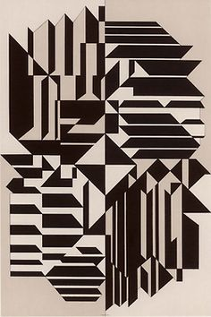 Victor Vasarely, Geminorum, 1956-59. Royal Art Museum, Brussels. Source