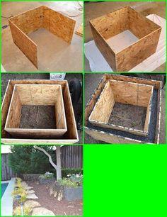 How to make concrete planters creative - gardening dreams . How to make concrete planters creative - gardening dreams Diy Concrete Planters, Concrete Crafts, Concrete Projects, Concrete Garden, Diy Planters, Planter Boxes, Garden Planters, Outdoor Projects, Garden Projects
