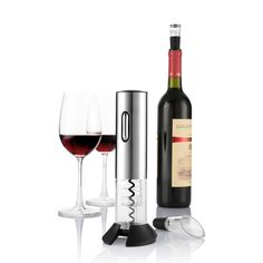 Automatic Electric Wine Bottle Opener Kit Corkscrew Electric Wine Opener Cordless With Foil Cutter And Vacuum Stopper Bar Tools Electric Wine Bottle Opener, Wine Bottle Corks, Usb, Bottle Stoppers, Wine Drinks, Red Wine, Stainless Steel, Bar Tools, Wine