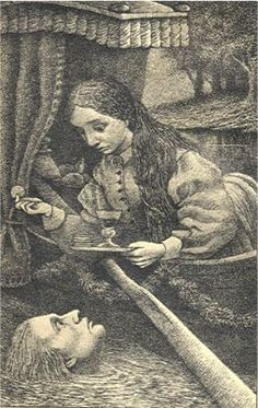 """From one of my favorite Sendak-illustrated books, George MacDonald's """"The Light Princess."""" Linked w/ one of my old poems."""