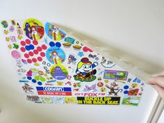 Simple DIY Reusable Sticker Wall for kids