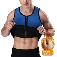 ff8099caef2 Men s Waist Trainer Vest Sauna Sweat Body Shaper Tank Top Slimming Trimmer  Shirt