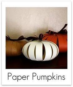 paper pumpkin decorations