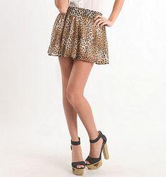 Kirra Animal Print Swing Skirt - PacSun.com