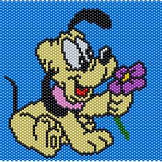 Baby Pluto Peyote/Brick Stitch Pattern 74 Columns X 57 Rows Pattern by me, Man in the Book