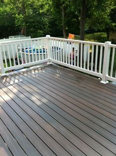 Grey House With Deck Grey Timbertech Deck In Westboro