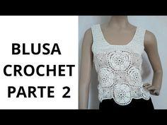 Blusa con Flores Parte 2 en tejido crochet tutorial paso a paso. - YouTube