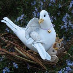 PDF Pattern, Primitive Dove, Baby Birds,  Hatching Birds, Sewing Pattern, birds, Dove. $8.50, via Etsy.