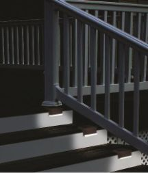 These solar deck/stair lights will add safety to home by providing light for your steps to help prevent tripping or falling at night. Led Stair Lights, Solar Patio Lights, Stair Lighting, String Lights Outdoor, Outdoor Lighting, Lighting Ideas, Deck Stairs, Solar Power, Yard