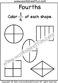 beginner fractions worksheets (free, printable) preschool