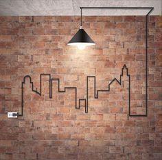 Design Industrie Kabel Lampe Wandgestaltung Ziegelmauerwerk Ziegelmauerwerk Industrie Design Ind In 2020 Backstein Tapete Wandgestaltung Ziegel Hintergrund