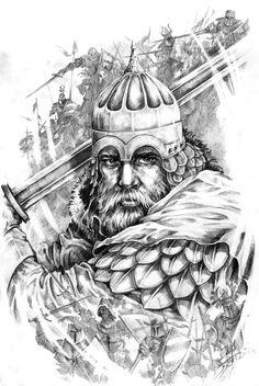 Князь Александр Невский арт для тату