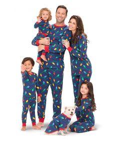 bf3288ca9e Christmas Lights Matching Family Pajama Set- Blue - C911R6QV8AD