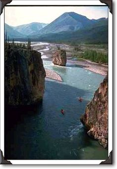 Canoeists, Mountain River, Northwest Territories