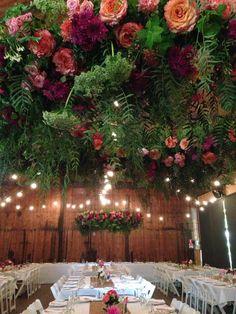 #suspendedflowers #hangingflowers #ceilingflowers