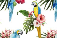 Tropical Watercolor Pattern - Textures