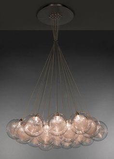Contemporary glass chandelier - BREATH: KADUR - Shakuff. archiexpo.com