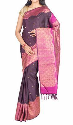 Kanchi Pure Silk saree With Pure Zari  #kanchipuram #Silk #Sarees