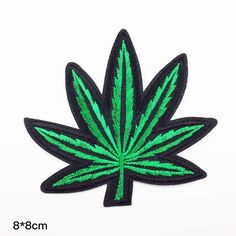 Weed Patch - Marijuana Embroidered Cannabis punk patch Decorative clothing embroidered patch iron on patch sew on patch (A89)