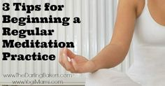 3 Tips for Beginning a Regular Meditation Practice- Guest Post on The Darling Bakers Breathing Meditation, Types Of Meditation, Easy Meditation, Meditation For Beginners, Meditation Techniques, Meditation Practices, Mindfulness Meditation, Guided Meditation, Prenatal Workout