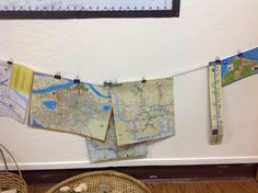 play based inquiry: Maps in the construction area