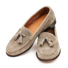 Women's Tassel Loafers - Taupe Odesa Suede USA