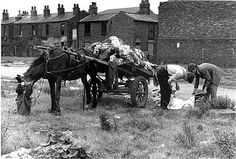 Rag Men with Horse-Drawn Cart - Salford, Manchester Photographic Print by Shirley Baker Shirley Baker, Man On Horse, Manchester England, Local History, Uk History, History Facts, Street Portrait, Salford, Horse Drawn