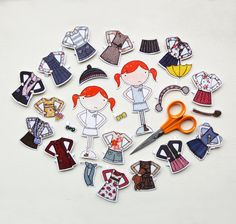 Clara Paper Doll, Dress-up Clothes  - The Deluxe Set. £11.50, via Etsy.