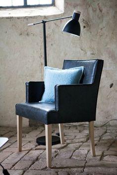 SANDRA COLL. Arm chair, RILEY COLL. Cushion, ZOE LIGHTING Floorlamp - Autumn / Winter 2014, Lene Bjerre Design