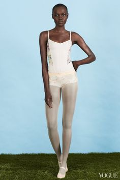 January 8 - Ballet Beautiful requires foxy: a foxy leotard and fierce stamina. Grace Bol in a Live the Process leotard, Capezio tights and ballet slippers.Live the Process classic corset leotard, $225For information: livetheprocess.comCapezio classic mesh transition tight with back seam, $24capezio.comCapezio ballet slippers, $23capezio.com