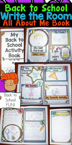 Fun and interactive back to school activity!  Students will have fun completing these all about me books while moving around the room.