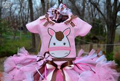 Country Cowgirl Pony Horse 3 piece Tutu set by KattsKreations1