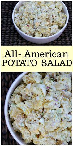All American Potato Salad recipe from RecipeGirl.com #potato #salad #recipe #american #RecipeGirl via @recipegirl